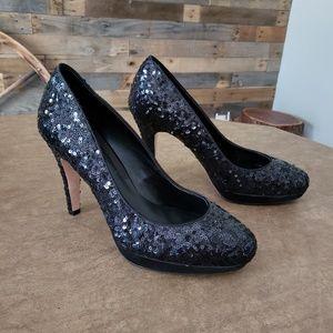 Black House Black Market sequin shoes.